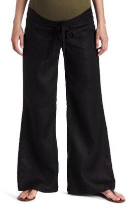 Olian Women's Maternity Wide Leg Linen Pant