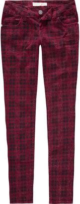 ALMOST FAMOUS Premium Plaid Womens Skinny Pants