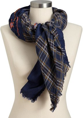 Old Navy Women's Sequined Plaid Gauze Scarves