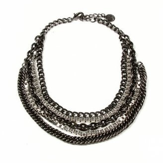 Ben-Amun Multi-Strand Gunmetal Necklace