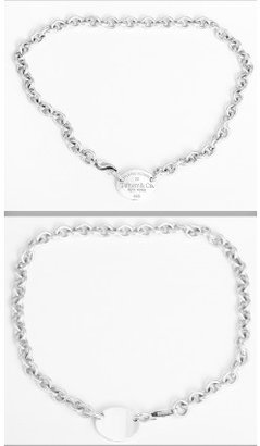 Tiffany & Co. excellent (EX) Return to Sterling Silver 925 Oval Tag Bracelet