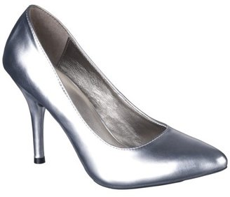 Mossimo Women's Vivian Pointy Heel - Silver