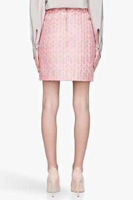 Matthew Williamson Fluorescent pink woven Mini Skirt