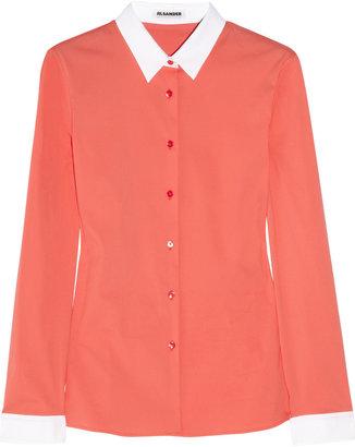 Jil Sander Anita contrast stretch cotton-blend shirt