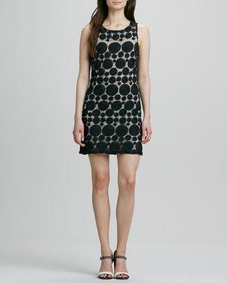 Alice + Olivia Dotted Mesh Sleeveless Dress