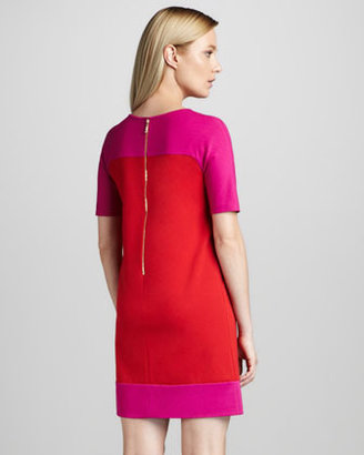 Kate Spade Racquel Colorblock Short-Sleeve Dress