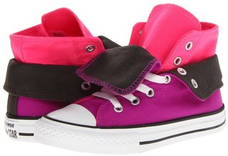 Converse Chuck Taylor All Star Two-Fold (Little Kid/Big Kid) (Purple Cactus Flower/Knockout Pink/Beluga) - Footwear