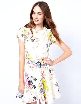 Ted Baker Collar Dress in Summer Bloom Print