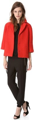 Giambattista Valli Red Boucle Jacket
