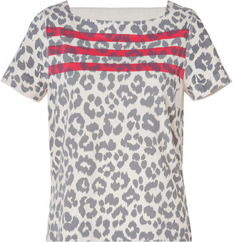 Marc by Marc Jacobs Cotton Dita the Cheetah Top in Dapper Grey Multi