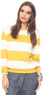 Forever 21 Rugby Boat neck Top