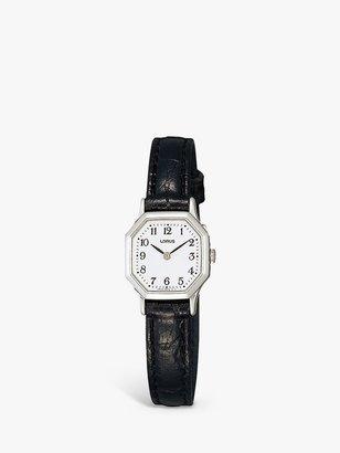 Lorus Women's Hexagonal Dial Leather Strap Watch