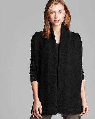 Vince Sweater Jacket - Leather Sleeve Drape