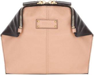 Alexander McQueen Black/Blush Demanta Cosmetic Case