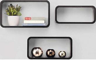 Argos Home 44cm Set of 3 Cubes - Black