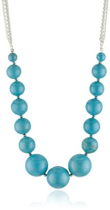 """Kenneth Cole New York """"Turquoise Item"""" Turquoise-Color Large Necklace"""