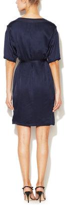 Lanvin Silk Jersey Belted Dress