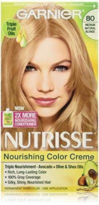 Garnier Nutrisse Nourishing Color Creme, 80 Medium Natural Blonde (Butternut) (Packaging May Vary) $7.99 thestylecure.com