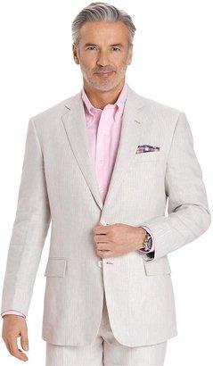 Brooks Brothers Linen Two-Button Stripe Regent Fit Suit