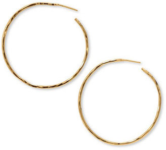 Women's Argento Vivo Hammered Large Hoop Earrings $68 thestylecure.com