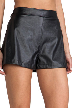 Naven Faux Leather Circle Shorts