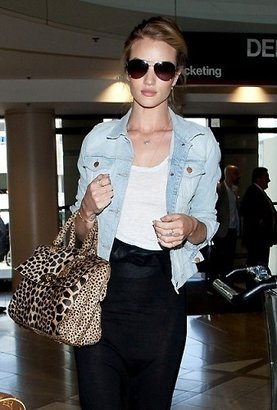 J Brand 403 Slim Fitted Jacket in Atomic as Seen On Rosie Huntington-Whiteley