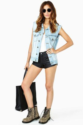 Nasty Gal Distressed Denim Vest