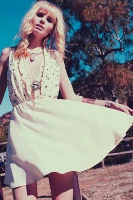 For Love & Lemons Little Lover Dress in Ivory $229 thestylecure.com