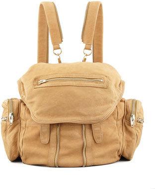 Alexander Wang Marti Convertible Nubuck Backpack, Tan