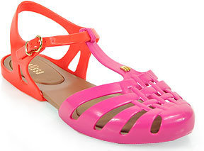 Melissa Spider Hits - Jelly Cutout T Strap Sandal in Pink and Red