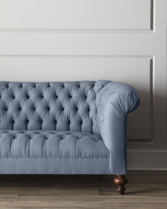 "Old Hickory Tannery Ellsworth"" Tufted Sofa"