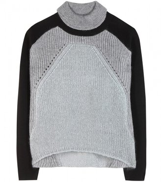 Helmut Lang Panelled knitted sweater