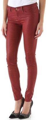 J Brand 901 Coated Textured Super Skinny Jeans