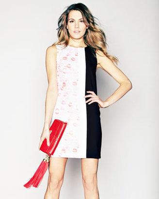 Erin Fetherston Lipstick Colorblock Shift Dress