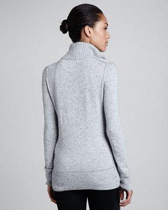 Tory Burch Giselle Rib-Trim Sweater