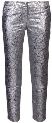 Jenni Kayne metallic print straight trouser