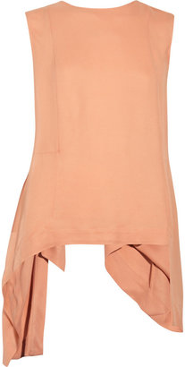 Marni Asymmetric crepe top