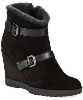 Aquatalia by Marvin K AQUATALIA Cooler Faux- Fur Lined Wedge Ankle Boots
