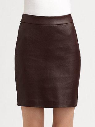 Alexander Wang Leather Combo Pencil Skirt