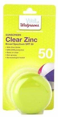 Walgreens Clear Zinc Sunscreen Broad Spectrum SPF 50