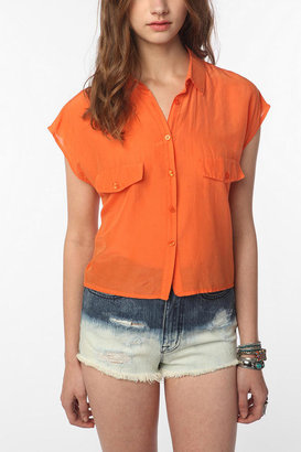 Urban Outfitters Cheap Monday Cassi Cropped Button-Down Shirt