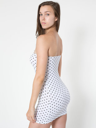 American Apparel Polka Dot Spandex Jersey Too-Short Tube Dress