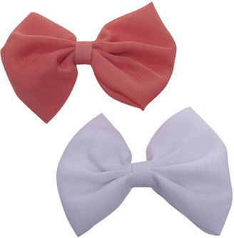 Wet Seal Solid Chiffon Clip Bow 2-Pack