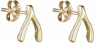 Jennifer Meyer Women's Wishbone Stud Earrings