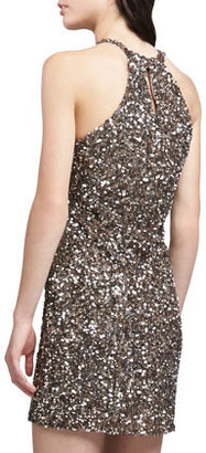 Parker Audrey Sequined Halter Dress