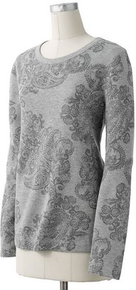 Sonoma life + style paisley thermal tee