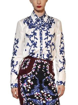 Erdem Printed Cotton Poplin Shirt