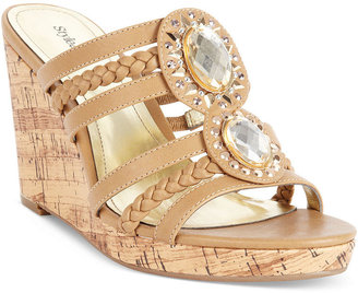 Style&Co. Dawnah Platform Wedge Sandals