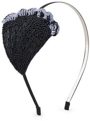 Cara Accessories Black Swan Headband