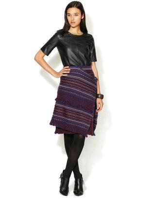 Pringle Wool Fringed Wrap Skirt